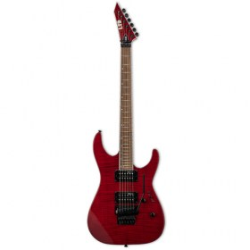 LTD M-200 ROSE FLAMED MAPLE SEE THRU RED FINISH